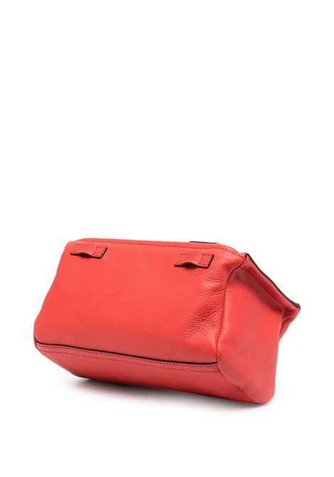 Borsa a tracolla Pandora Mini in pelle di capra rossa con dettagli in metallo argentato GIVENCHY | Borse a tracolla | BB05253013-PANDORA630