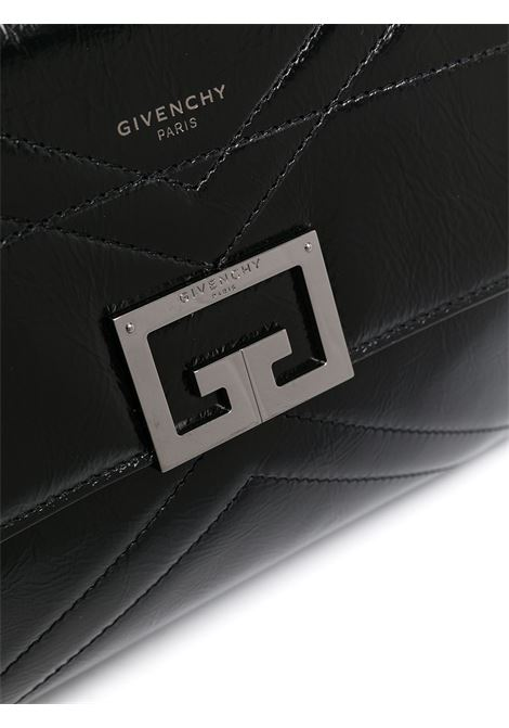 black leather medium ID shoulder bag featuring gold-tone Givenchy logo plaque GIVENCHY |  | BB50FAB102-ID001