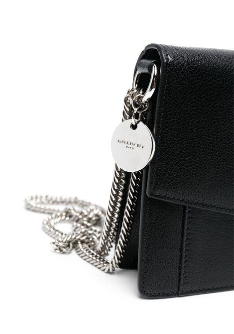 Borsa a tracolla GV3 in pelle di capra nera con ciondolo logato Givenchy GIVENCHY | Borse a tracolla | BBU00KB131-GV3001