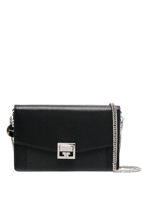 Black goat skin GV3 shoulder bag featuring Givenchy logo charm GIVENCHY |  | BBU00KB131-GV3001