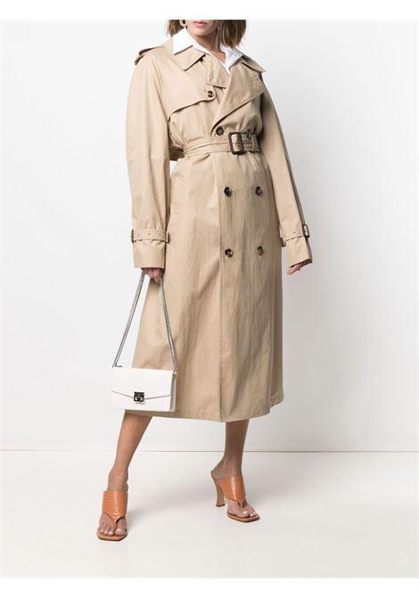 Borsa a tracolla GV3 in pelle di capra bianca con ciondolo logato Givenchy GIVENCHY | Borse a tracolla | BBU00KB131-GV3105