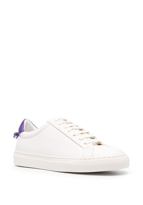 White leather lace-up sneakers featuring violet heel counter GIVENCHY |  | BE0003E0YF135
