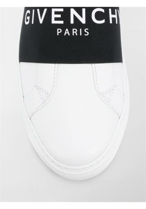 Paris white calf leather slip on featuring black band with white Givenchy lettering logo GIVENCHY |  | BE0005E0DD116