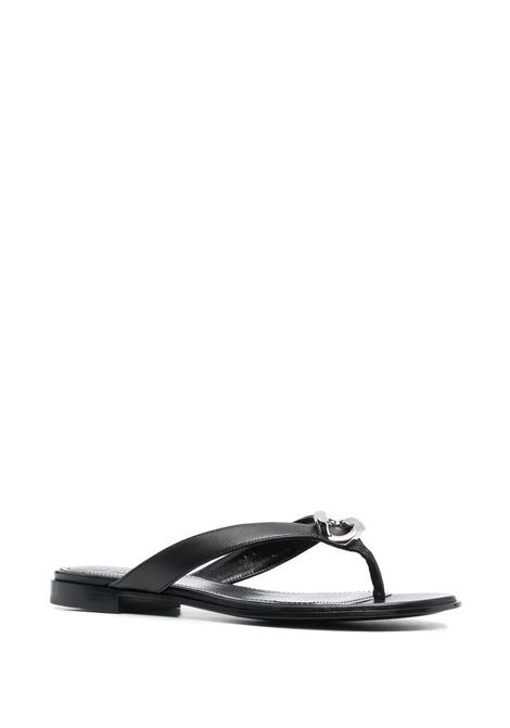 Black lambskin G Chain flat sandals  GIVENCHY |  | BE305CE0YZ001