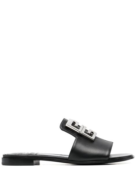 Black sheep leather 4G silver logo-plaque sandal  GIVENCHY |  | BE305DE0ZG001