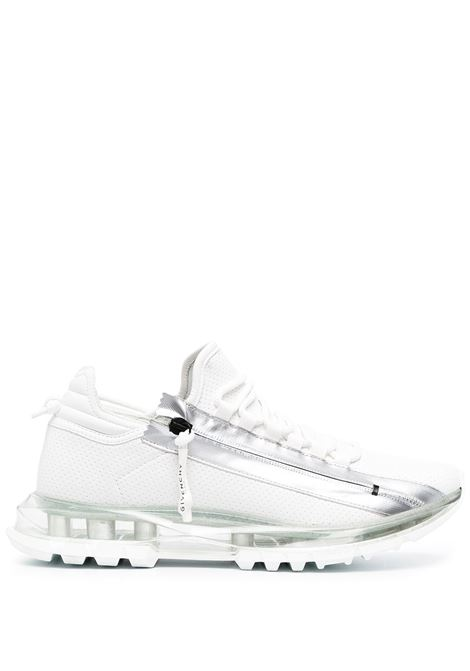 Sneakers Spectre in pelle di vitello bianco e argento GIVENCHY | Sneakers | BH003MH0TR132