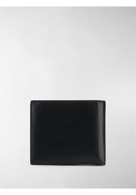 black calf leather wallet featuring white Givenchy lettering print GIVENCHY |  | BK6005K0AC-BILLFOLD001