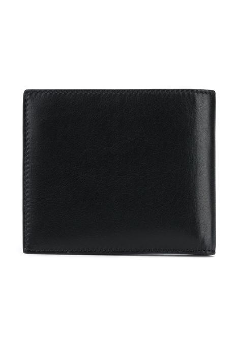 portafoglio in pelle di vitello nero con lettering logo Givenchy bianco GIVENCHY | Portafogli | BK6005K0AC-BILLFOLD001