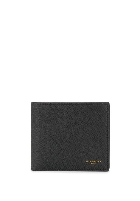 black calf leather bi-fold wallet with gold Givenchy lettering logo  GIVENCHY |  | BK6005K0UF-BILLFOLD 8CC001