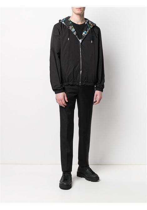 Black multicolour reversible Motel Print hooded jacket  GIVENCHY |  | BM00PC13KU013