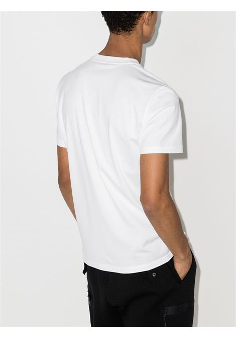 White and black cotton T-shirt featuring black Givenchy logo print  GIVENCHY |  | BM70K93002100