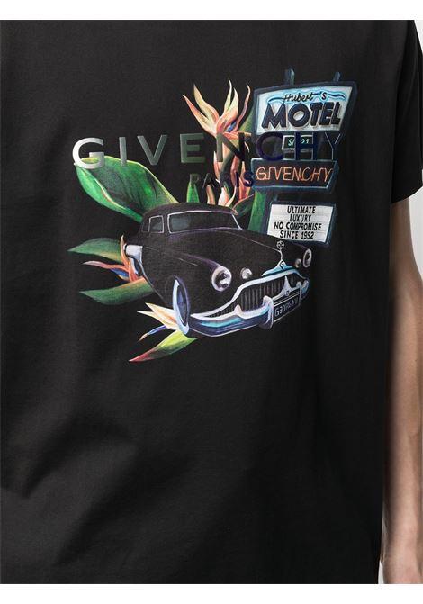 Black Motel graphic print short-sleeve T-shirt  GIVENCHY |  | BM710X3002001