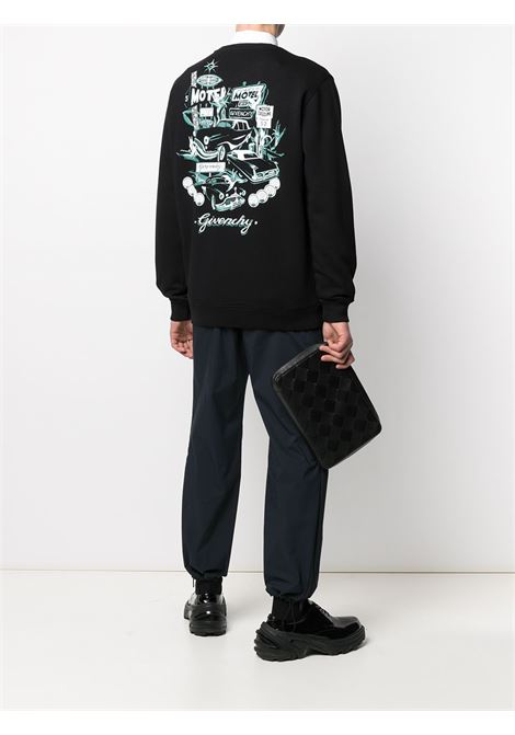 Black cotton Givenchy logo-print sweatshirt featuring crew neck GIVENCHY |  | BMJ09V30AF001