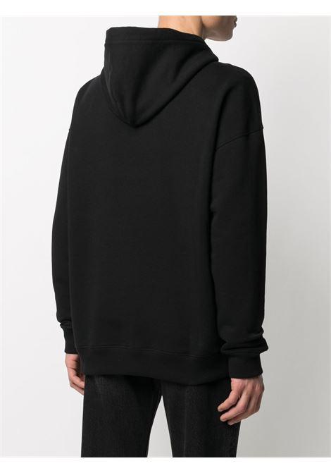 Felpa con cappuccio in cotone nero con logo Givenchy metallico in rilievo GIVENCHY | Felpe | BMJ0A230AF001