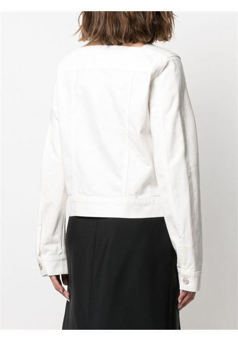 Giacca in denim con collo quadrato in cotone bianco GIVENCHY | Giubbini | BW00BZ50K9100