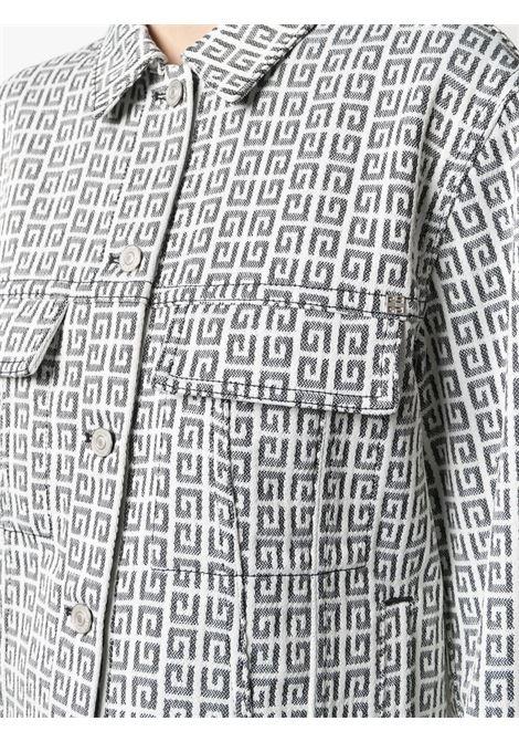 White and black cotton Givenchy jacquard logo motif denim jacket GIVENCHY |  | BW00C313N0004
