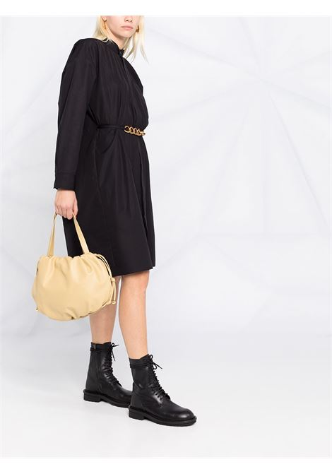Black cotton gold chain-belt dress featuring stand-up collar GIVENCHY |  | BW212X130A001