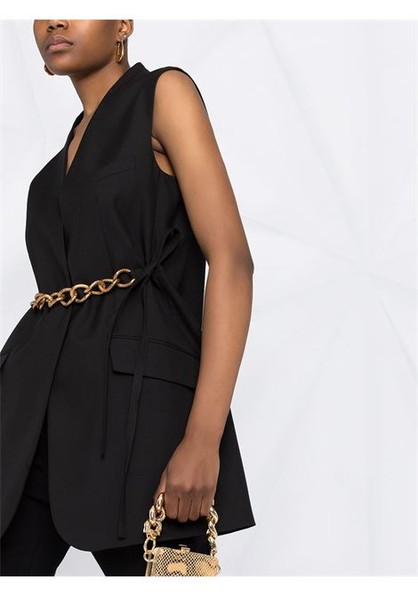 Black wool gold belt vest jacket featuring gold-tone chain-link detailing GIVENCHY |  | BW30CH12JF001