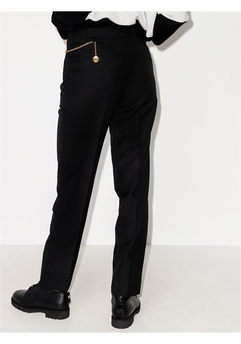 Black wool chain-detail cigarette trousers  GIVENCHY |  | BW50P812JF001