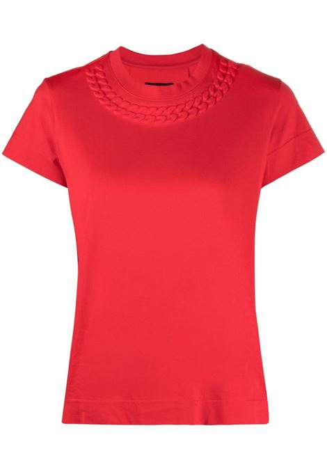 Red  jersey T-shirt featuring embossed mock chain detail GIVENCHY |  | BW707Y3Z4Z600