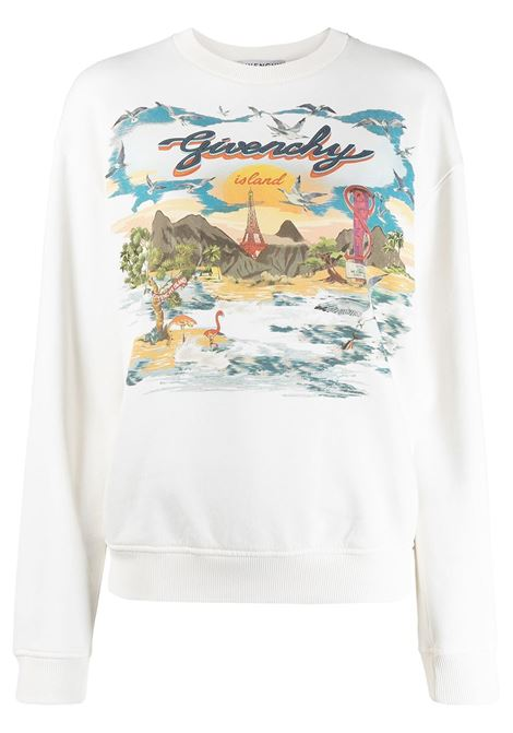 Ivory and multicolour cotton Givenchy Island crew neck sweatshirt  GIVENCHY |  | BWJ0193Z4P105