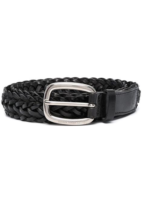 Black leather Houston braided 3cm belt  GOLDEN GOOSE |  | GMA00160-A00013090100