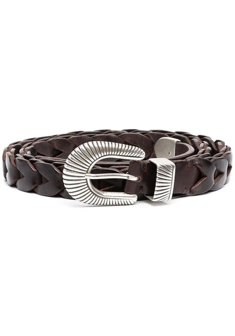 Brown Juno 2,5cm woven and leather belt  GOLDEN GOOSE |  | GMA00164-A00013955357