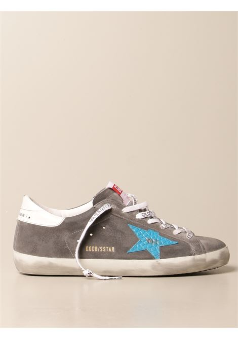 Grey leather and suede SuperStar sneakers featuring sky blue star to the sides GOLDEN GOOSE |  | GMF00101-F00033960253