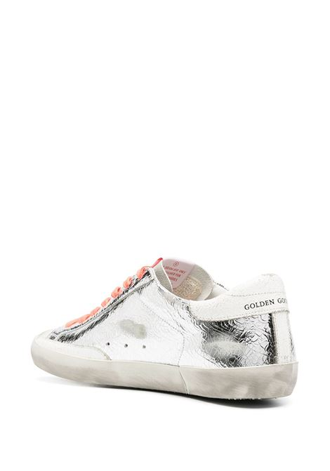 Silver leather distressed-effect Superstar sneakers  GOLDEN GOOSE |  | GMF00101-F00034280304