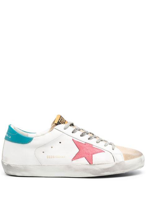 Sneakers Superstar in pelle bianca con stella rosa ai lati GOLDEN GOOSE | Sneakers | GMF00101-F00034780310