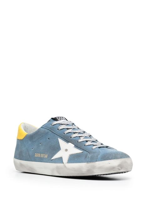 Sneakers basse Superstar in pelle e tessuto blu GOLDEN GOOSE | Sneakers | GMF00101-F00106850587