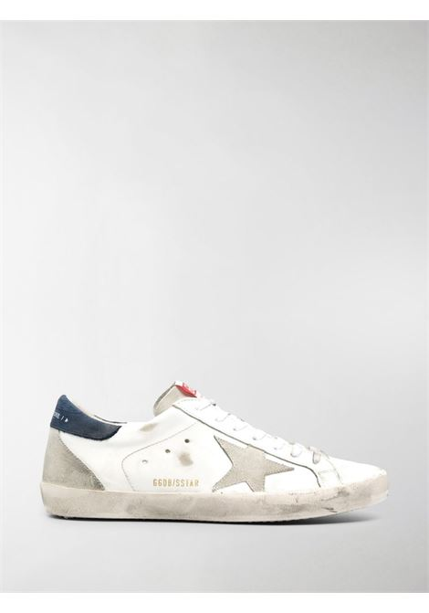 White leather and suede Superstar low-top sneakers featuring distressed finish GOLDEN GOOSE |  | GMF00102-F00034010297