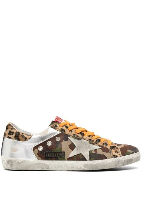 Multicolour calf leather, cotton and pony fur Superstar low-top sneakers  GOLDEN GOOSE |  | GMF00103-F00035080308