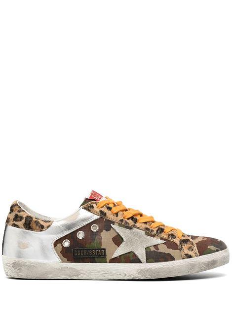 Sneaker bassa Superstar in pelle di vitello, cotone e pelliccia di cavallino GOLDEN GOOSE | Sneakers | GMF00103-F00035080308