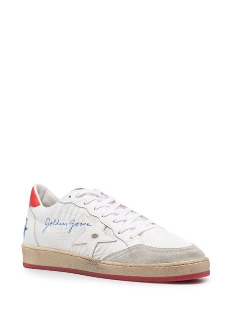Sneakers basse Ballstar in pelle bianca con dettagli rossi GOLDEN GOOSE | Sneakers | GMF00117-F00103510476
