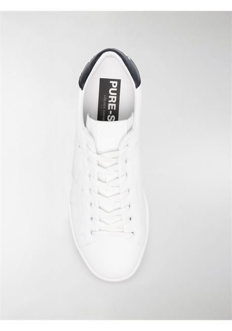 Sneaker stringate Pure in pelle bianca con stella bianca sul lato e tallone nero GOLDEN GOOSE | Sneakers | GMF00197-F00053710283