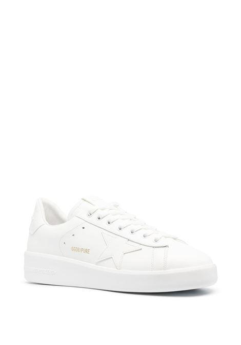Sneaker bassa Purestar in pelle bianca con stella bianca sui lati GOLDEN GOOSE | Sneakers | GMF00197-F00054110100