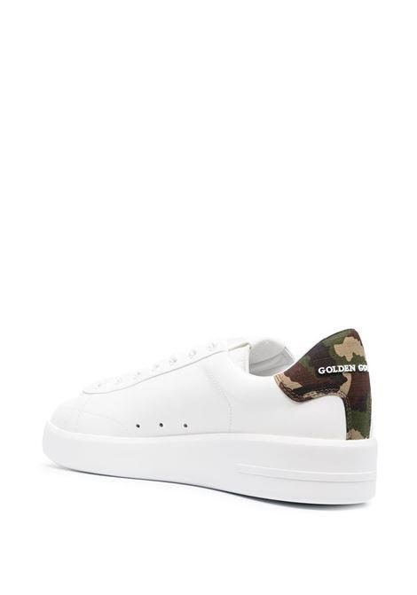 Sneaker bassa Purestar in pelle bianca con stella bianca ai lati GOLDEN GOOSE | Sneakers | GMF00197-F00117210267