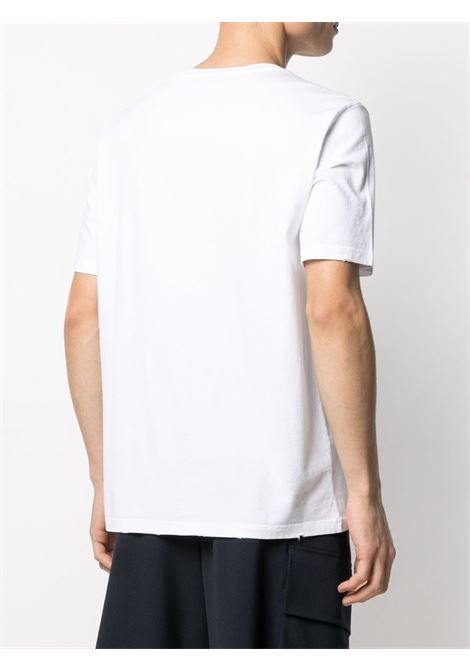 T-shirt con stampa sneaker in cotone bianco GOLDEN GOOSE | T-shirt | GMP00777-P00041910546