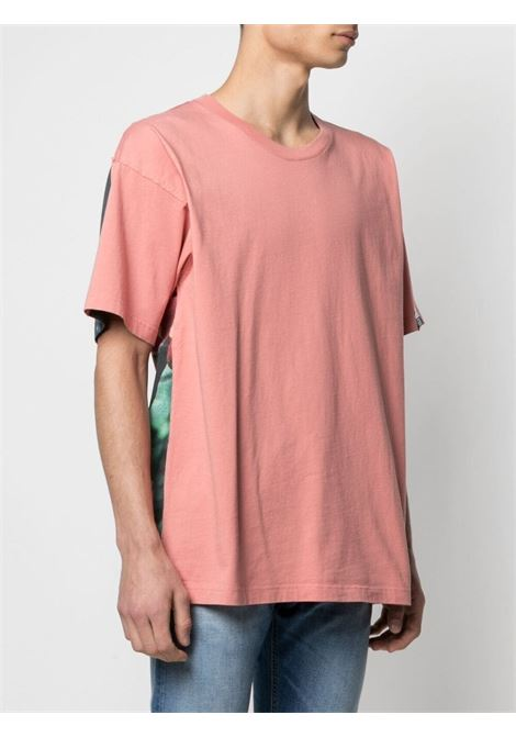 T-shirt rosa salmone in cotone con stampa floreale Aira GOLDEN GOOSE | T-shirt | GMP00783-P00043625555
