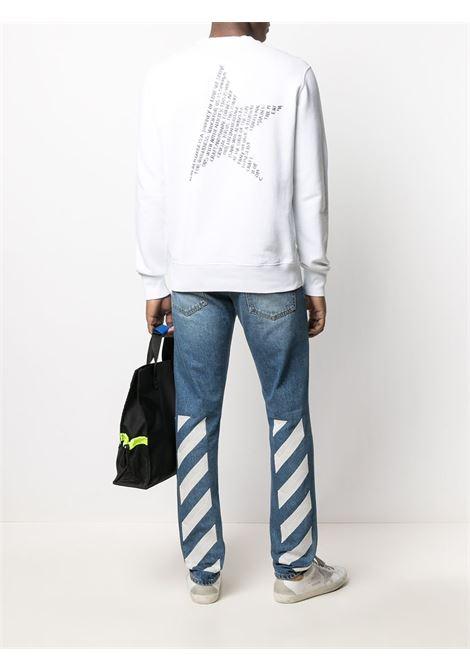 White cotton sweatshirt featuring back text star-print  GOLDEN GOOSE |  | GMP00799-P00045010283