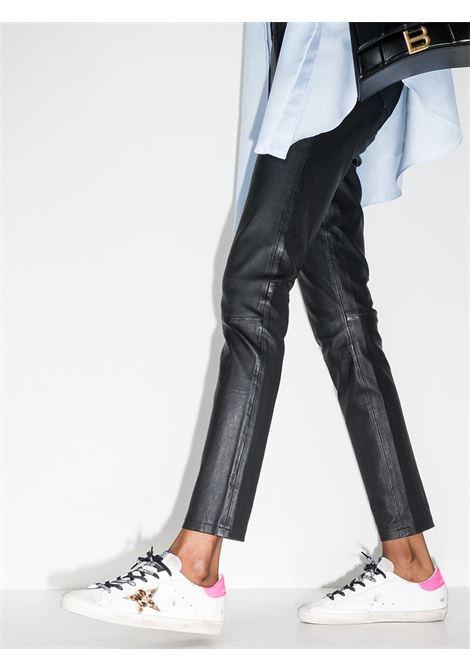 Sneaker Superstar in pelle bianca stella leopardata sui lati GOLDEN GOOSE | Sneakers | GWF00101-F00011580164
