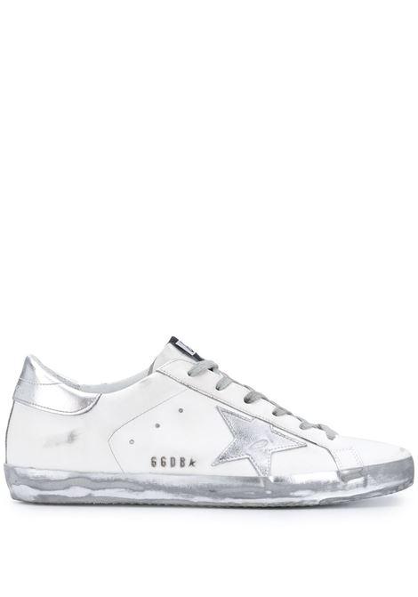Sneakers Superstar in pelle di vitello argento e bianco GOLDEN GOOSE | Sneakers | GWF00101-F00031480185