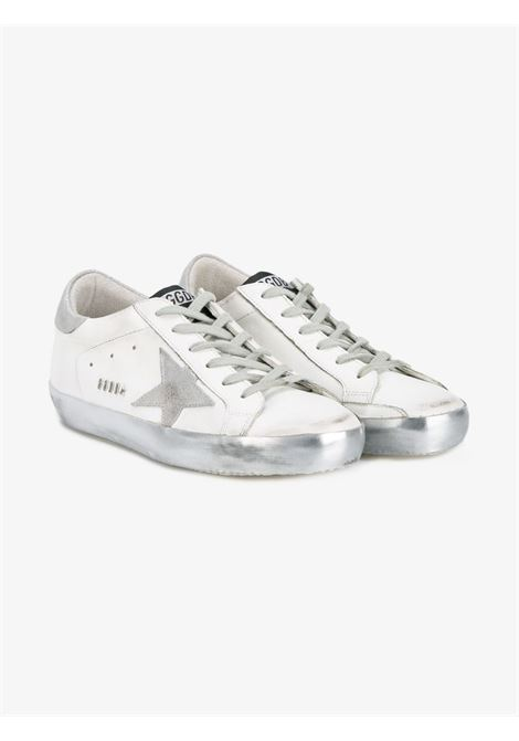 Silver and white calf leather Superstar low-top sneakers GOLDEN GOOSE |  | GWF00101-F00031480185