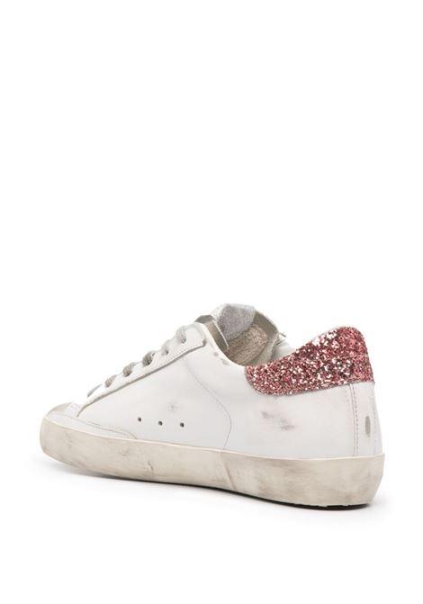 Sneakers basse Superstar in pelle bianca e glitter colorati GOLDEN GOOSE | Sneakers | GWF00101-F00101080780