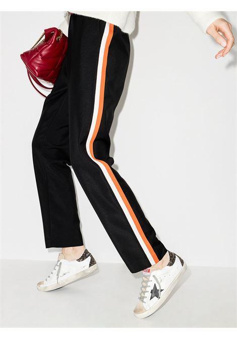 Sneakers Superstar in pelle invecchiata bianca con allacciatura frontale in trama leopardata GOLDEN GOOSE | Sneakers | GWF00102-F00011880186