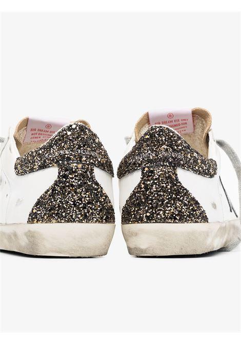 Sneakers Superstar in pelle invecchiata bianca con allacciatura frontale GOLDEN GOOSE | Sneakers | GWF00102-F00011880186