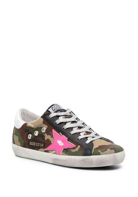 Sneaker Superstar in cotone e pelle verde camouflage verde effetto consumato GOLDEN GOOSE | Sneakers | GWF00102-F00024680257