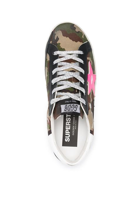Green cotton and leather Superstar sneakers featuring green camouflage pattern GOLDEN GOOSE |  | GWF00102-F00024680257