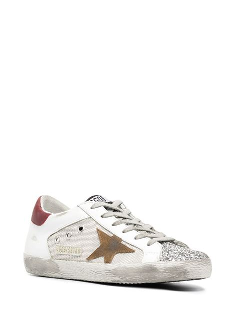 White leather Superstar low-top sneakers with brown contrasting heel counter GOLDEN GOOSE |  | GWF00103-F00015680188